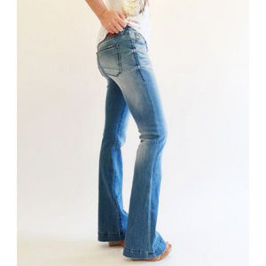 Dear John Backstage Flare Distressed Jeans NWT 32